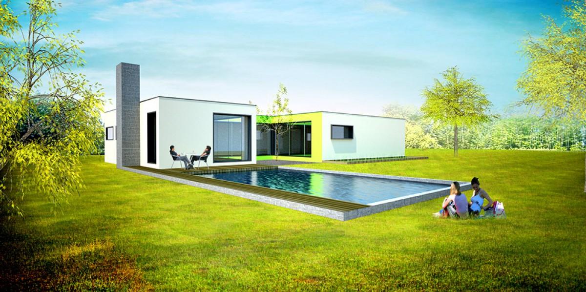 Mod le construction maison contemporaine classique en sarthe for Maison contemporaine classique
